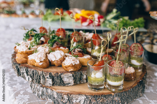 Stampa su Tela pintxos, tapas, spanish canapes party finger food