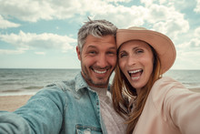 Autumn Coast Selfie Couple