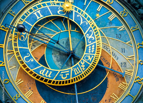 Fotobehang Praag The old astronomical clock is one of the main sights of Prague. The historical center of the city.