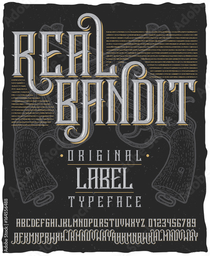 Photo Real Bandit Typeface Poster