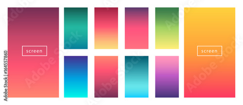 Soft Color Background Modern Screen Vector Design For Mobile App Abstract Gradients