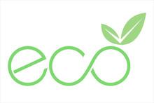 Logo Eco Con Foglia E Simbolo ...