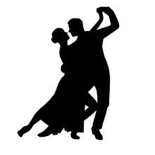 Tango Couple Dancing Silhouett...
