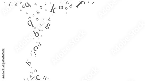 Photographie  Abstract background with letters.