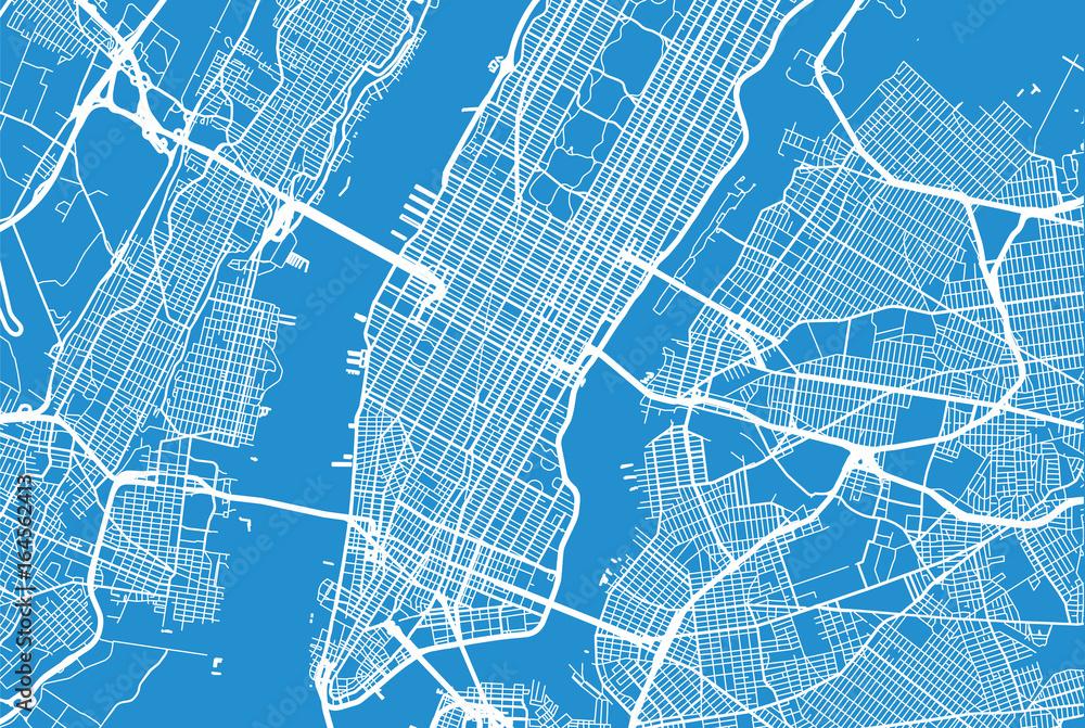 Fototapety, obrazy: Vector city map of New York