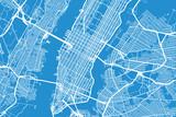 Fototapeta Nowy Jork - Vector city map of New York