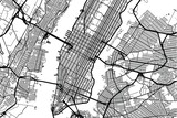 Vector city map of New York  - 164562429