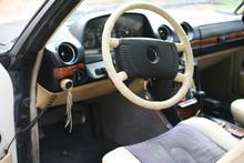 German Mercedes Benz Motor Car W123 E-class Cockpit Inside