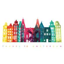 Amsterdam Skyline. Vector Illu...
