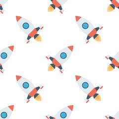 Tapeta rockets seamless pattern.