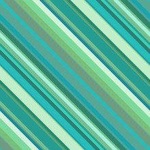 Seamless Abstract Background With Green, Blue Stripes, Vector Illustration
