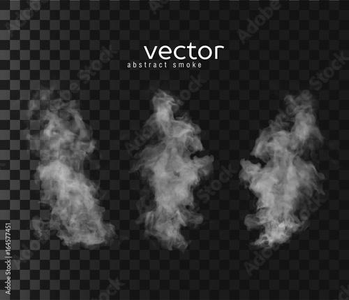 Fotomural  Vector illustration of smoky shapes.
