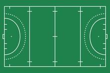 Flat Green Field Hockey Grass....