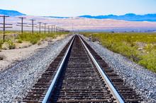 Railroad Tracks In Texas