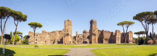 Fotoposter Oude gebouw Baths of Caracalla, ancient ruins of roman public thermae