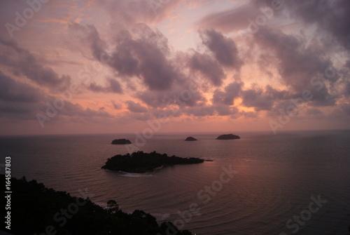 Foto op Plexiglas Crimson SONY DSC, COUCHER SOLEIL, THAILANDE, KOH CHANG, NUAGES, CIEL