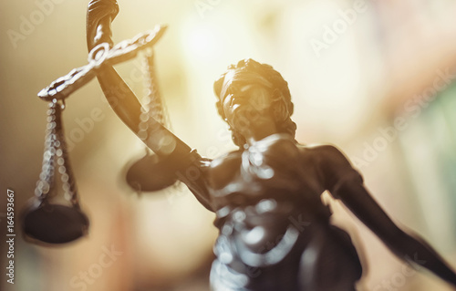Justitia Figurine Statue - Personification of Justice Wallpaper Mural