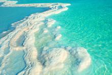 Texture Of Dead Sea. Salt Sea ...