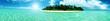 canvas print picture - paradiesische Insel auf den Malediven