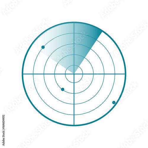 Photo Vector Radar screen icon