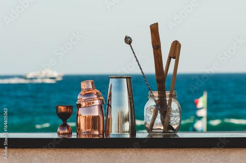 Fotografie, Obraz  Strumenti da barman bartender a mare