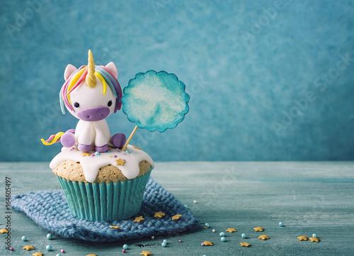 Fotografie, Obraz  Unicorn cupcake