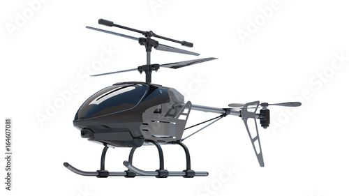 Tuinposter Helicopter Helicopter 3D