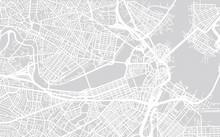 Vector City Map Of Boston, Mas...