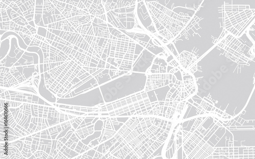 Carta da parati Vector city map of Boston, Massachusetts