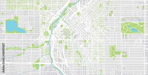 Vector city map of Denver, Colorado. – kaufen Sie diese Vrgrafik on