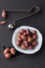 Purple Olives In Small White B...