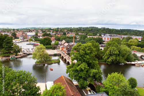 Elevated view of Stratford-Upon-Avon, Warwickhire, England, the birthplace of Wi Canvas Print