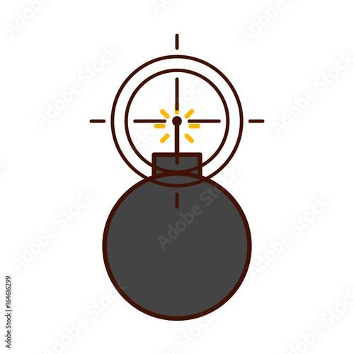 Fotografia, Obraz explosive boom with target vector illustration design