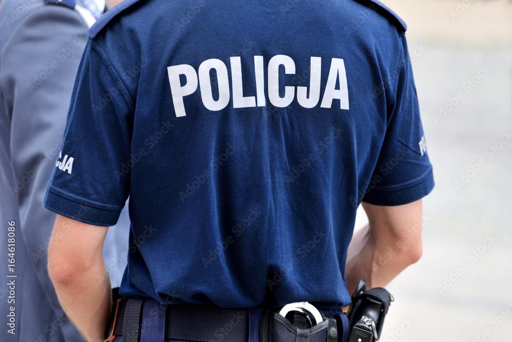 Fototapeta Policjant
