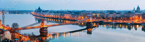 Overview of Budapest at sunset Wallpaper Mural