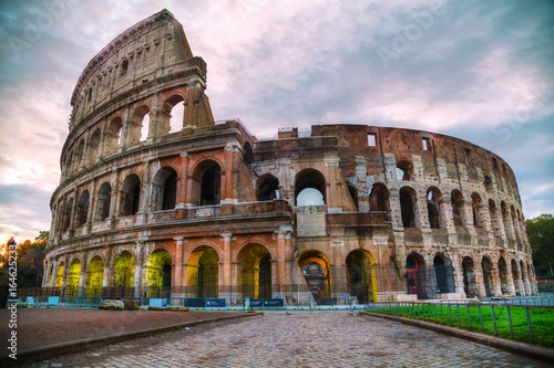 The Colosseum in Rome in the morning Poster