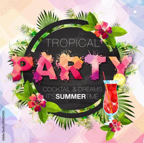Fotografie, Obraz  Tropical Summer Party