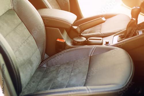 armrest in the luxury passenger car Wallpaper Mural