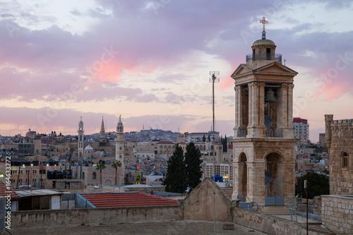Carta da parati Bethlehem from roof top