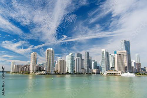Miami skyline skyscraper