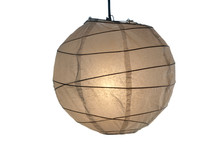 Paper Lantern Lit From Within.