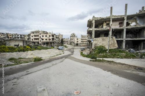 ville détruite homs syrie Poster