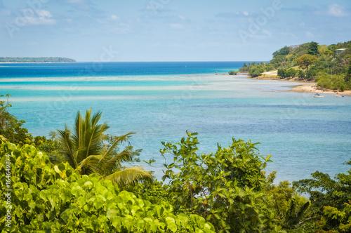 In de dag Mexico Magnificent Fatumaru Bay in Port Vila, Efate Island, Vanuatu