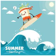 Vintage Surfing Poster Design ...