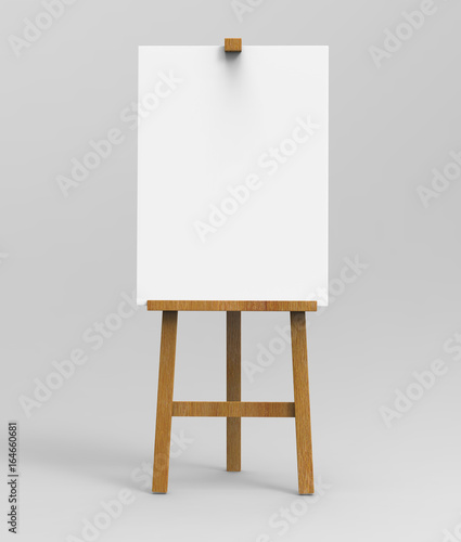 Outdoor advertising picture display blank art board  easel wooden stand or standee template mock up Wallpaper Mural