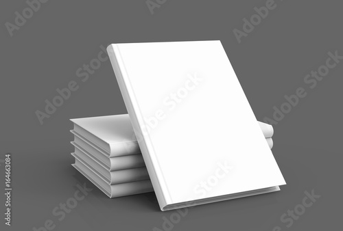 Hardcover books template Fototapeta