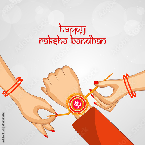 Fotografering  Illustration of background for the occasion of Indian festival Raksha Bandhan