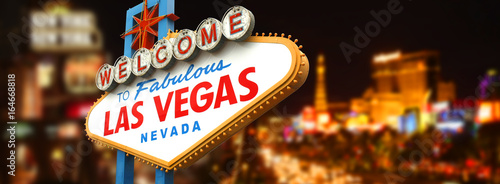 Deurstickers Amerikaanse Plekken Welcome to fabulous Las Vegas sign