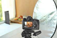 Photo Of Fast Food On Camera Display While Shooting