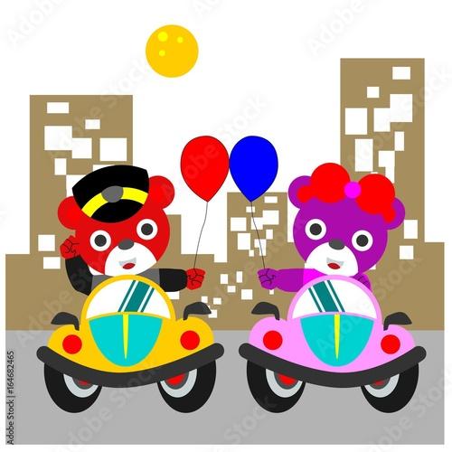 Foto op Canvas Cars little bear